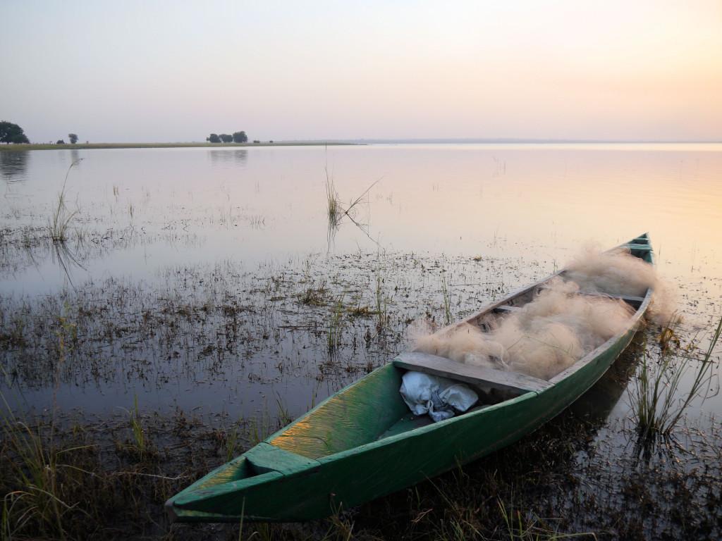 Fishing boat at Tono lakeside